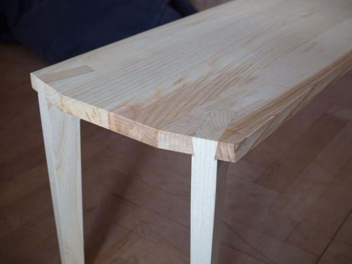 Couch table + bench combo made from ash.
